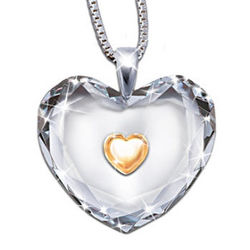 Dear Daughter, Heart of Gold Pendant Necklace