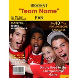 Biggest Fan Personalized Magazine Cover Print