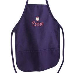 Personalized Purple Children's Apron