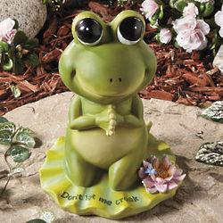 Don't Let Me Croak Praying Frog Garden Statue