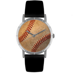 Baseball Lover Watch with Italian Leather Band