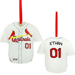 St. Louis Cardinals Personalized Jersey Ornament