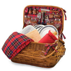Pittsburgh Steelers Highlander Rattan Picnic Basket