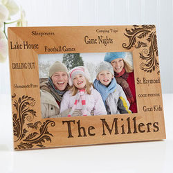 Family Pride Personalized 4X6 Photo Frame