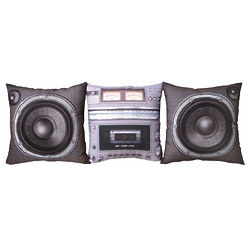 Boombox and Speaker Pillows