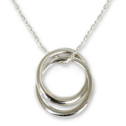 Lovers Sterling Silver Pendant Necklace