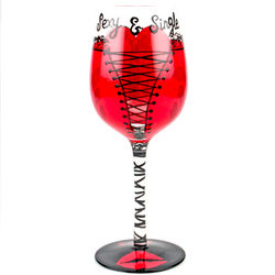 Sexy and Single Wine Glass