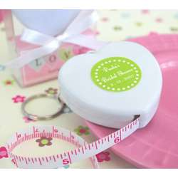 Personalized Heart Tape Measure Favors