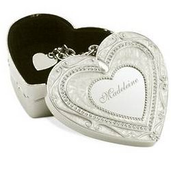Personalized Royal Heart Keepsake Box