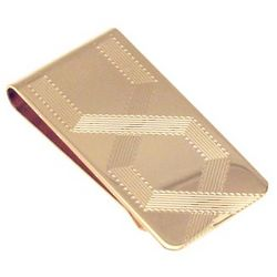 Engraved Gold Pattern Money Clip
