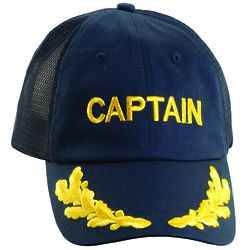 Embroidered Captain Baseball Cap