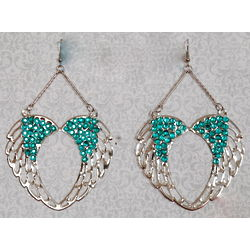 Glitz and Glam Embellished Wings Earrings