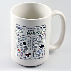 New Hampshire Calligraphy Mug