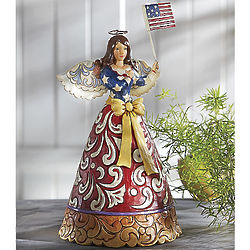 Flag of Freedom Forever Wave Figurine