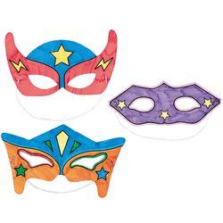 12 Color Your Own Superhero Masks
