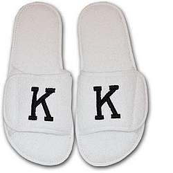 Mens' Embroidered Slippers