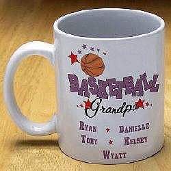 Personalized Basketball Ceramic Coffee Mug