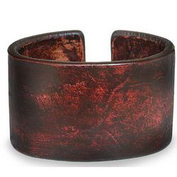 Crimson Reality Leather Bracelet