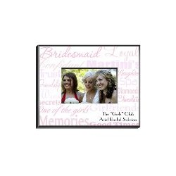 Personalized Bridesmaid Frame in Shades of Pink