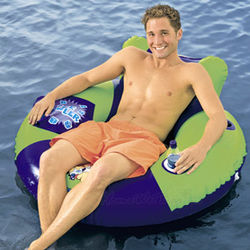 Lazy Dayz Inner Tube Float with Cooler and Cupholder