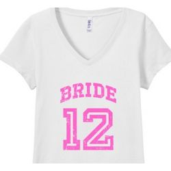 Vintage Bride 2012 Junior Fit V-Neck T-shirt