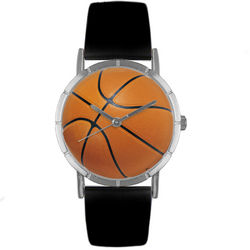 Basketball Lover Print Watch with Italian Leather Band