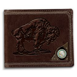 Spirit of the West Buffalo Leather Men's Wallet