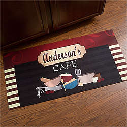 Personalized Oversized Family Bistro Kitchen Mat