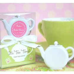 Personalized Teapot Tape Measure Favors