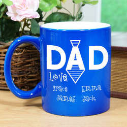 Personalized Dad's Tie Two-Tone Mug