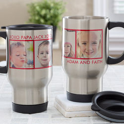Picture Perfect Personalized 4 Photo Travel Mug