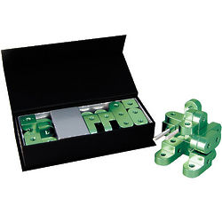 Green Aluminum Alloy Building Blocks Bot
