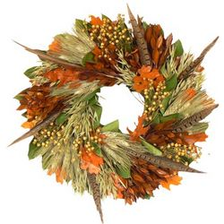 "Fall Feathers 16"" Wreath"