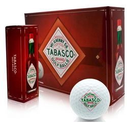 White Tabasco Brand Personalized Golf Balls