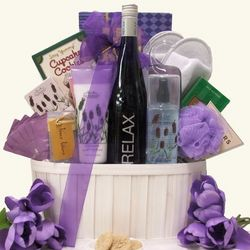 Relax Riesling Wine and Spa Gift Basket