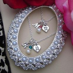 Big Sis and Lil Sis Personalized Necklace Set