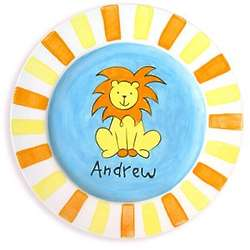 """Personalized 8.5"""" Lion Baby Plate"""