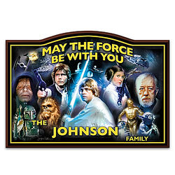 Star Wars Wooden Welcome Sign Personalized with Family Name
