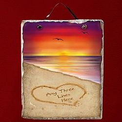 Personalized Sunset Slate