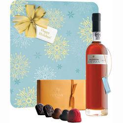 Warres Otima Port and 8-Piece Godiva Chocolate Gift Box