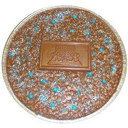 Chanukah Card Chocolate Pizza
