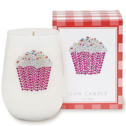 Jeweled Cupcake Candle