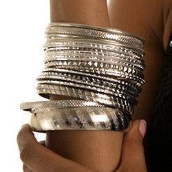 Trendy Girl Mix and Match 21 Piece Fashion Bracelets Set