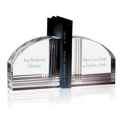 Personalized Crystal Decorative Bookends