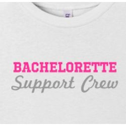 Bachelorette Support Crew Junior Fit T-Shirt