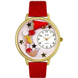 Cheerleader Print Watch with Italian Leather Band