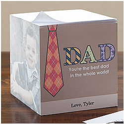 Personalized Photo Note Pad Cube for Dad