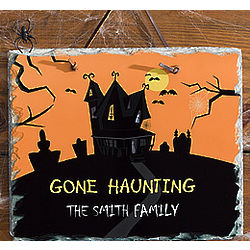 Personalized Haunted House Slate Plaque