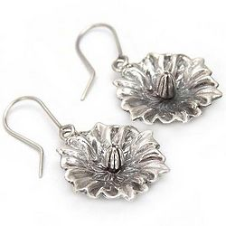 Potato Blossom Silver Dangle Earrings