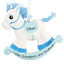 Personalized Rocking Horse Second Christmas Ornament